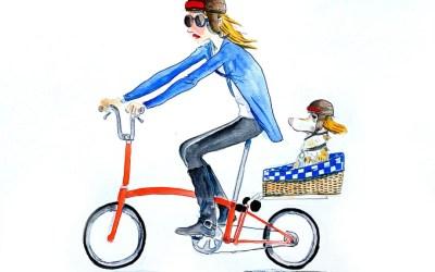 Portraits à l'aquarelle sur vélo
