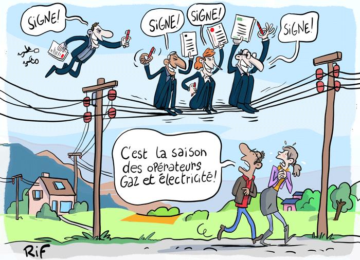 Le harcèlement des opérateurs de compagnies d'électricité