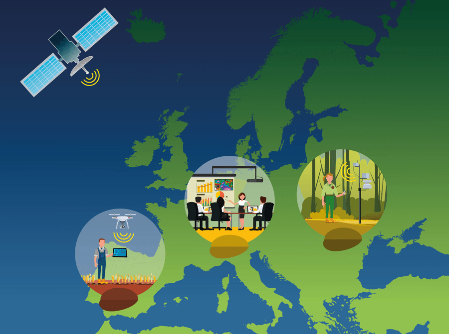 vectorial illustration about Environmental Observation