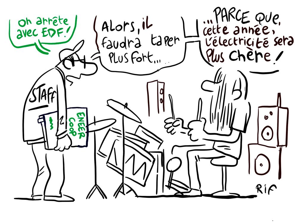 Choix du fournisseur d'électricité - festivals et politiques de transition écologique en Occitanie