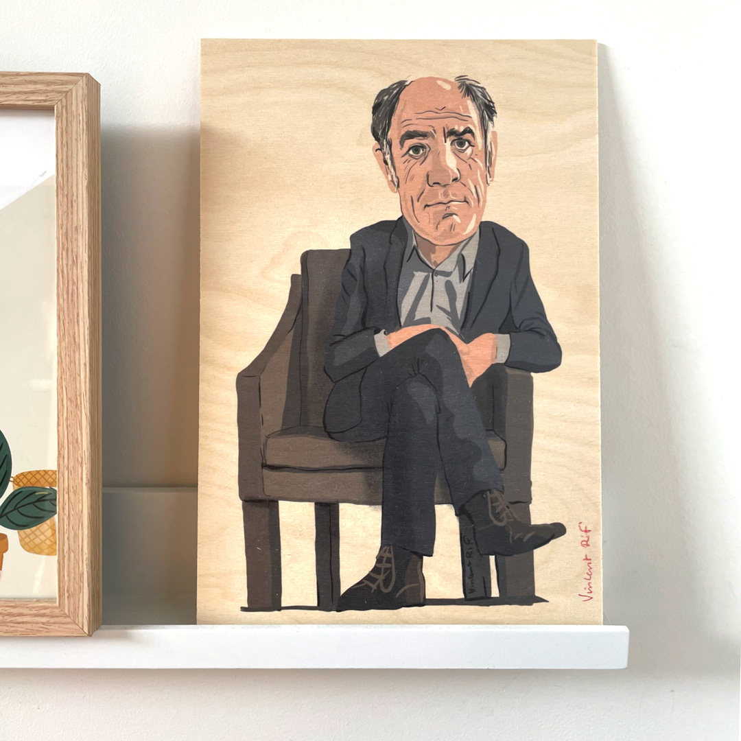 frederic-pierrot-portrait sur bois