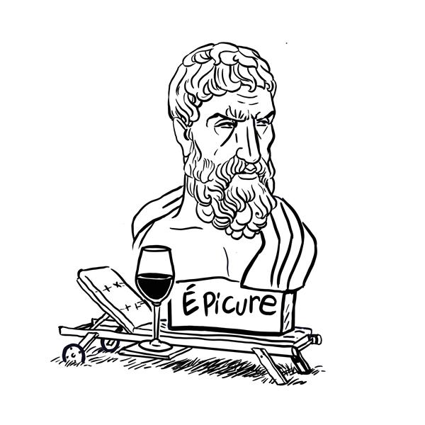 Portrait du philosophe Epicure