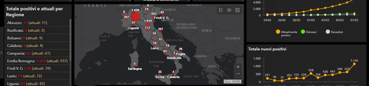 Coronavirus: da oggi on-line la mappa dei contagi in Italia