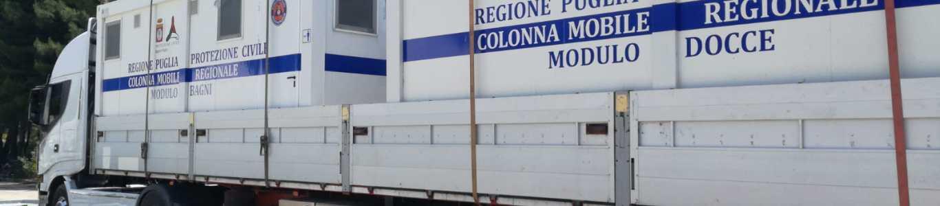 Protezione Civile Puglia: la colonna mobile regionale