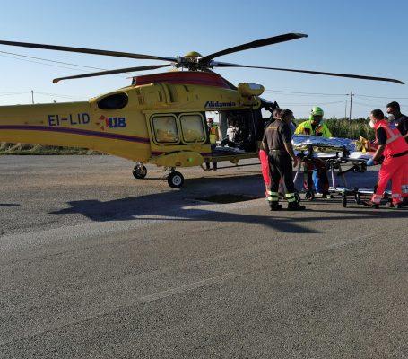 Incidente stradale sulla SP41, intervenuto elisoccorso 118