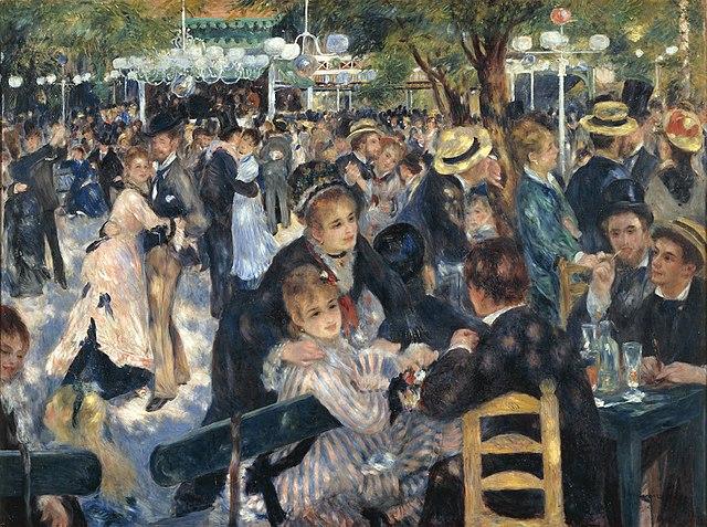 """Jeux d'ombres dans """"Le Moulin de la Galette"""", Renoir (1876)"""