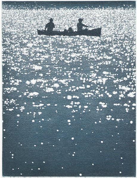 Buddies Blues, 19 x 14 cm, aquatinte, 2010, Anne Dykmans