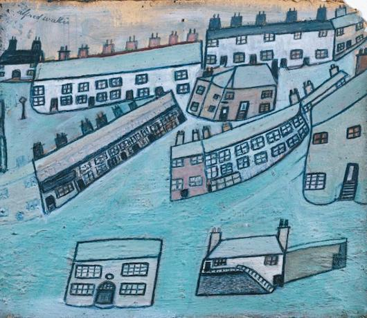 Houses at St Ives, Cornwall ?c.1928-42 Alfred Wallis 1855-1942 Presented by Ben Nicholson 1959 http://www.tate.org.uk/art/work/T00239