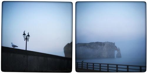 Etretat à l'heure bleue, photo Vinciane Lacroix