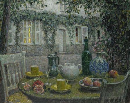 """Le Sidaner, """"La table de pierre au crépuscule du soir"""" (1917)"""