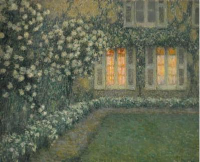"""Le Sidaner, """"Le jardin blanc au crépuscule"""" (1924)"""
