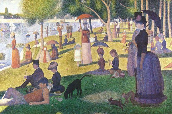 """Georges Seurat, """"Un dimanche après-midi à l'île de la Grande Jatte"""" (1884-1886)"""