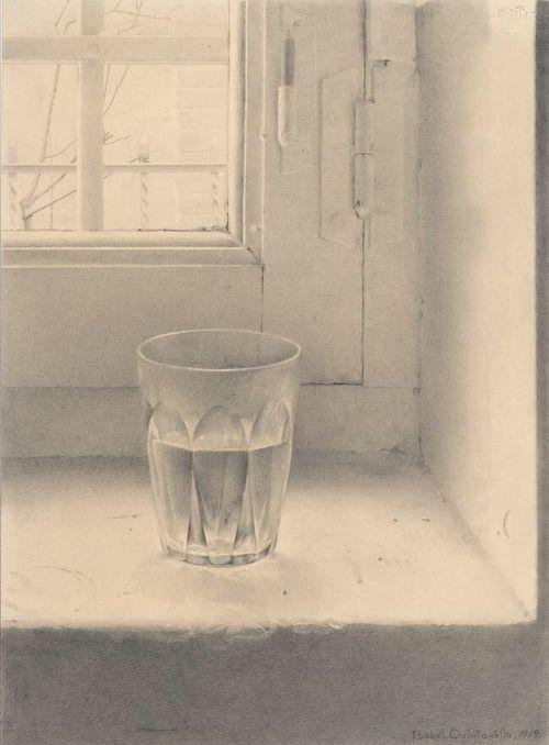 Antonio López García, verre d'eau