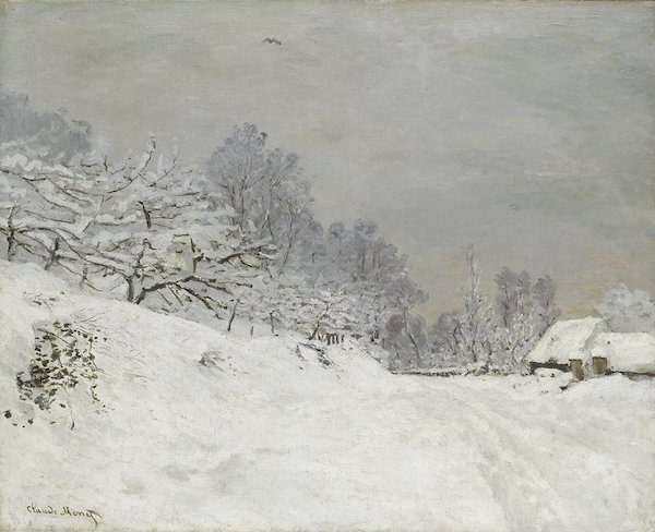 """Claude Monet, """"Environs d'Honfleur, neige"""" (1867)"""