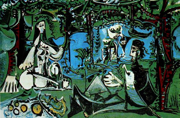 """Picasso, """"Le déjeuner sur l'herbe"""" d'après Manet (1960)"""