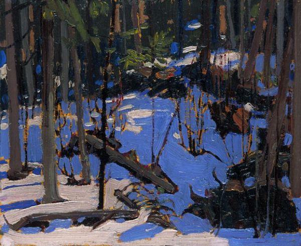 """Tom Thomson , """"Hiver dans les bois"""" (1916)"""
