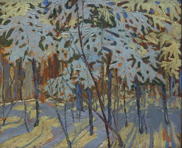 """Tom Thomson, """"Arbres couverts de neige"""" (1916)"""