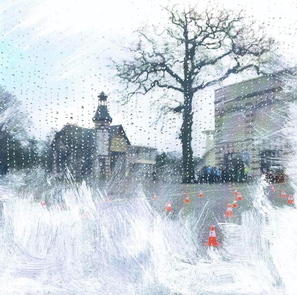 application du défi #9 Le blanc (I)  Photographie peinte de Vinciane Lacroix