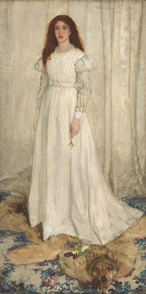 """James Whistler, """"Symphonie en blanc (la fille blanche)"""", 1862"""