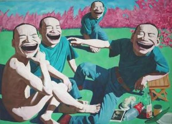 """Yue MinJun  """"Le déjeuner sur l'herbe"""""""