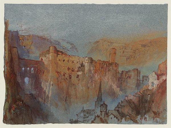 "William Turner, ""Le pont du château  et le Bock, Luxembourg"" (Luxembourg-1839)"