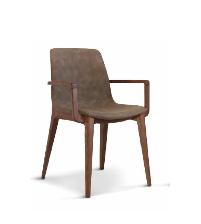 chaise avec accoudoirs milva unico italia