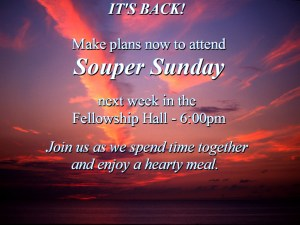 Souper Sunday is back