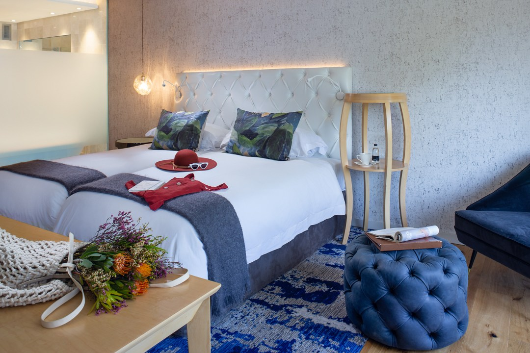 image of a bedroom at the Vineyard hotel