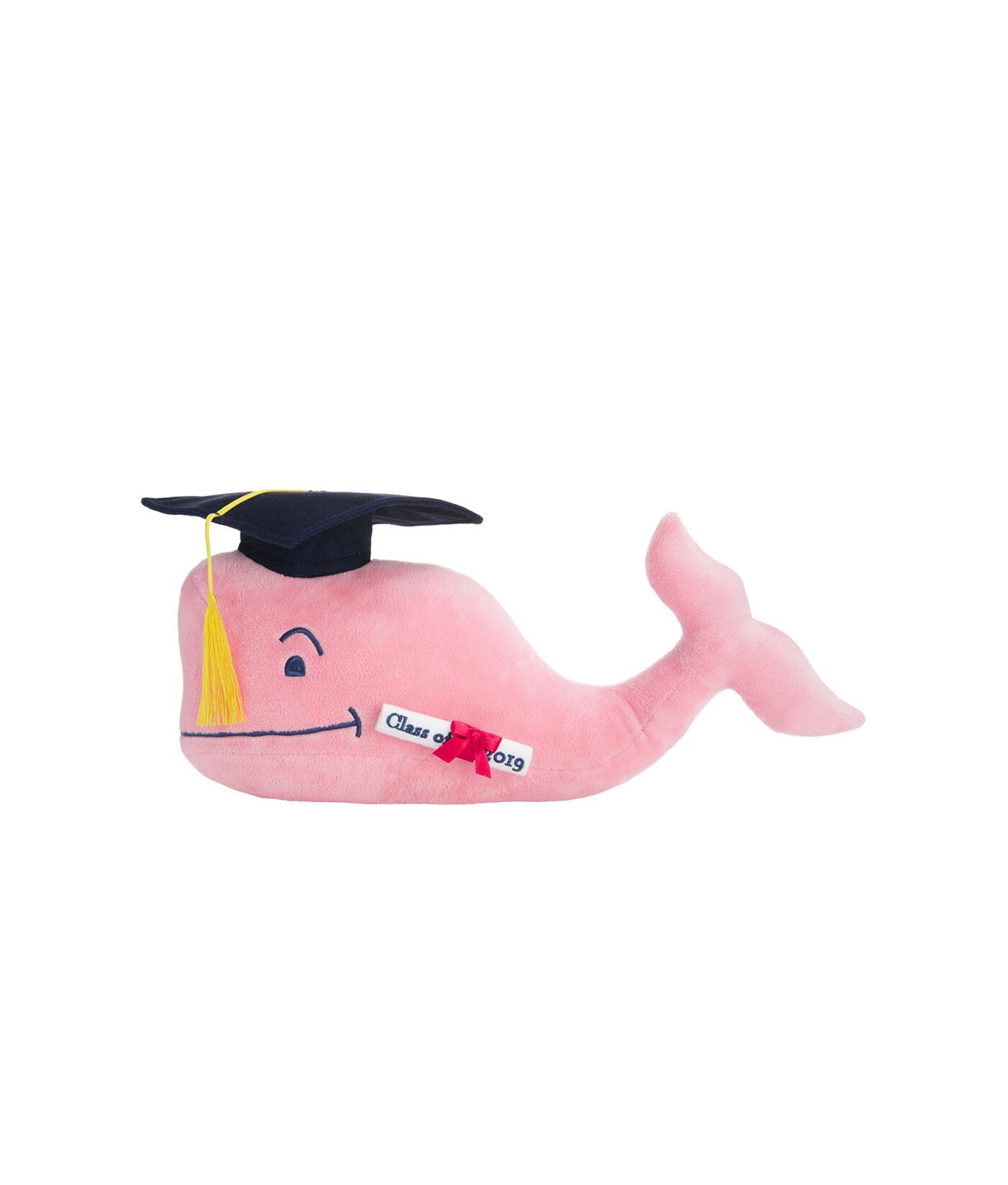 plush graduation whale