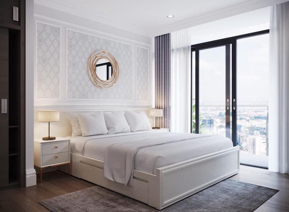 Phòng ngù căn hộ 3 phòng ngủ nội thất sang trọng cao cấp cho thuê tại Vinhomes Golden River Bason Quận 1
