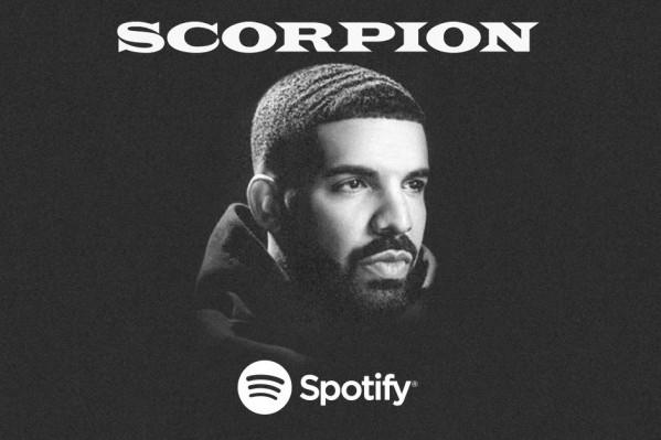 Spotify marca un antes y un después, con el tuneo de su plataforma para Drake con 'Scorpion'