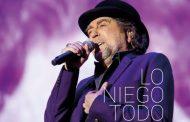 Joaquín Sabina publicará el 26 de octubre, 'Lo Niego Todo En Directo', doble CD + DVD