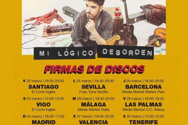 Roi Méndez anuncia 9 firmas de discos para 'Mi Lógico Desorden' su primer disco