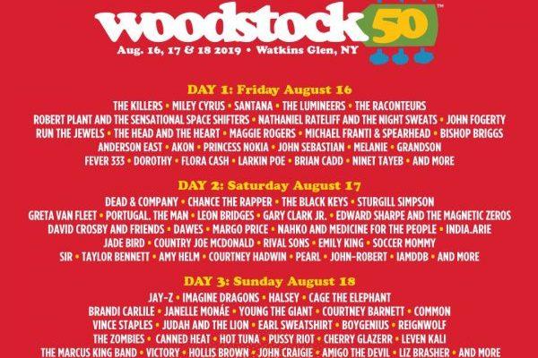 Imagine Dragons, The Killers, Halsey, Miley Cyrus o The Black Keys, algunos de los confirmados para Woodstock 50