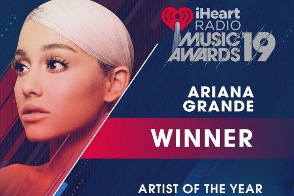 Ariana Grande artista del año en los iHeartRadio Music Awards