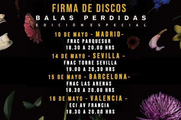 Morat anuncian 4 firmas de discos, para la reedición de 'Balas Perdidas'