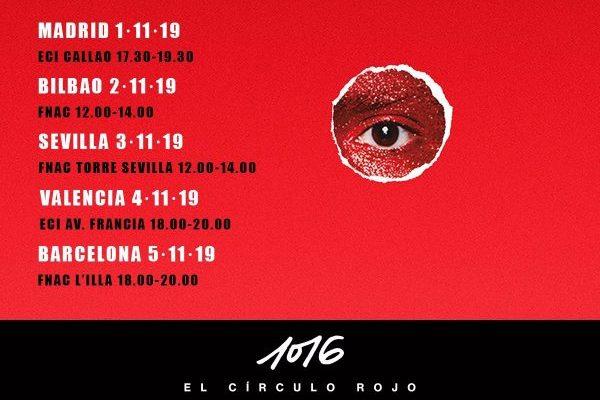 Alfred García anuncia 5 firmas de discos para '1016 El Círculo Rojo'