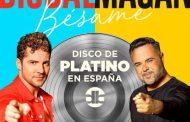 David Bisbal y Juan Magán disco de platino por 'Bésame'. Es el tercer platino consecutivo para el almeriense