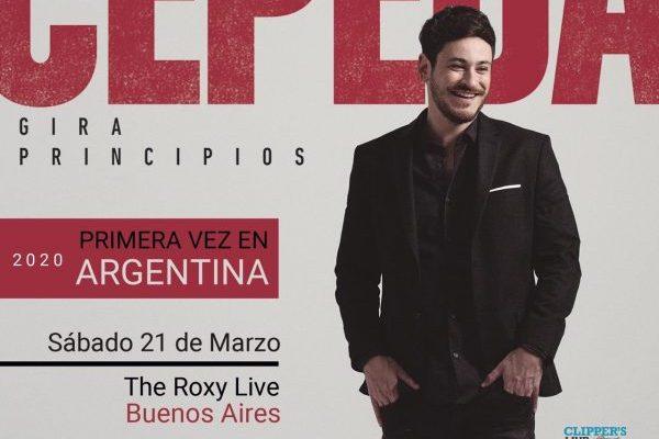 Cepeda anuncia su primer concierto en Latinoamérica, será en Argentina el próximo 21 de marzo