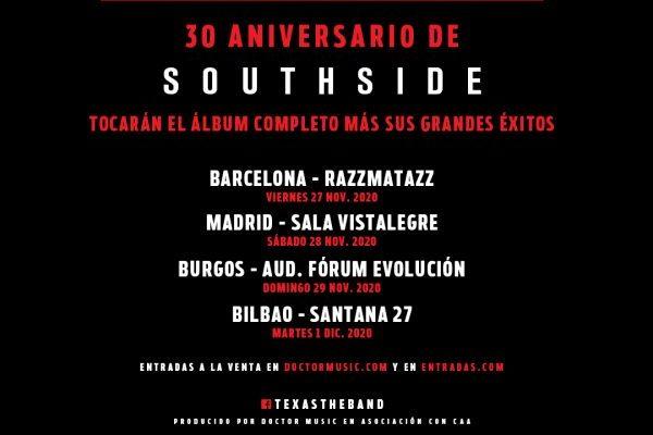 Texas actuarán en España en 2020, en la gira del 30 aniversario de su álbum 'Southside'