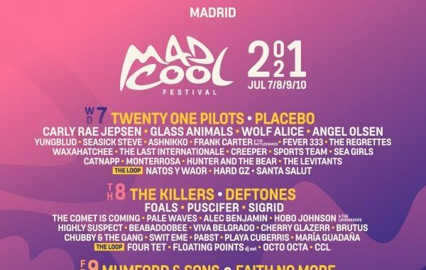Twenty One Pilots, Carly Rae Jepsen, Red Hot Chili Peppers y The Killers, en el Mad Cool 2021