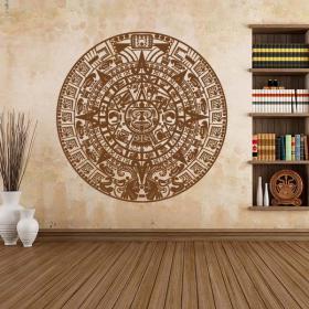 Vinilos Decorativos Piedra del Sol Calendario Azteca