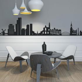 Vinilo Decorativo Skyline Amsterdam