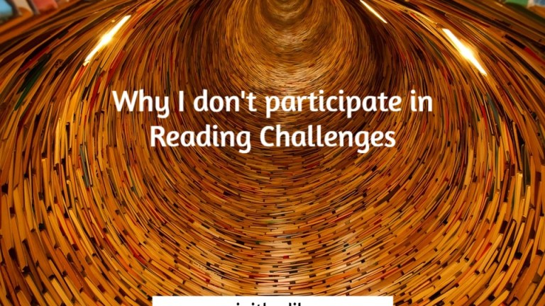 Why I don't participate in reading challenges