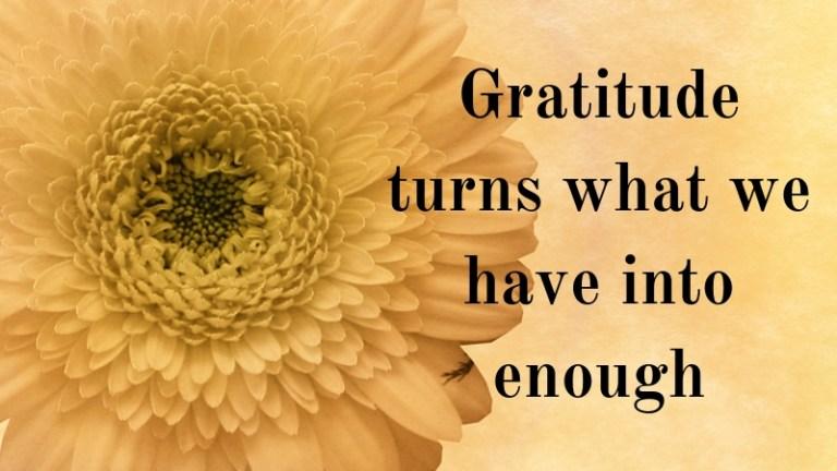 Gratitude List – March & April