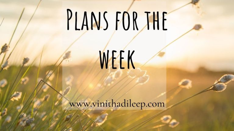 Plans for the Week #SoulfulSunday