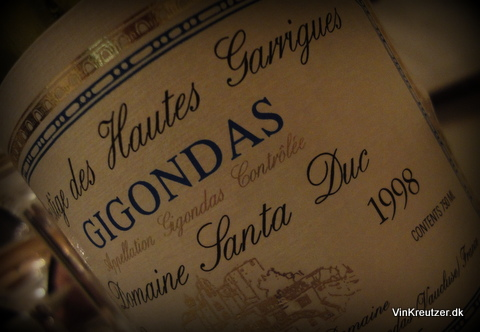 1998 Domaine Santa Duc, Prestige des Hautes Garrigues, Gigondas