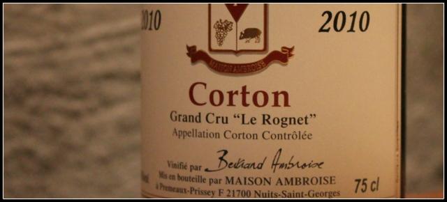 2010 Bertrand Ambroise, Le Rognet, Corton