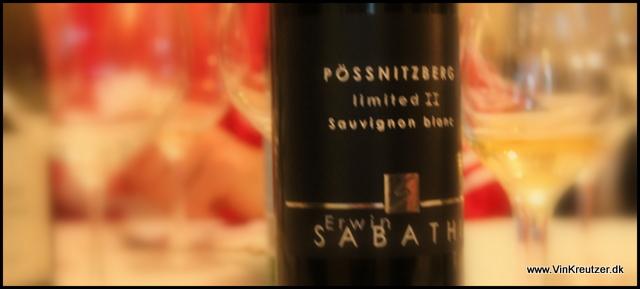 2007 Erwin Sabathi, Pössnitzberg, Limited II, Sauvignon Blanc, Steiermark, Østrig