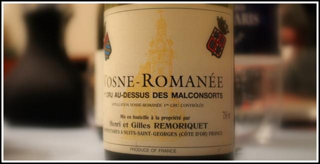 2001 Henri et Gilles Remoriquet, Au-dessus Des Malconsorts, 1'er Cru, Vosne-Romanée